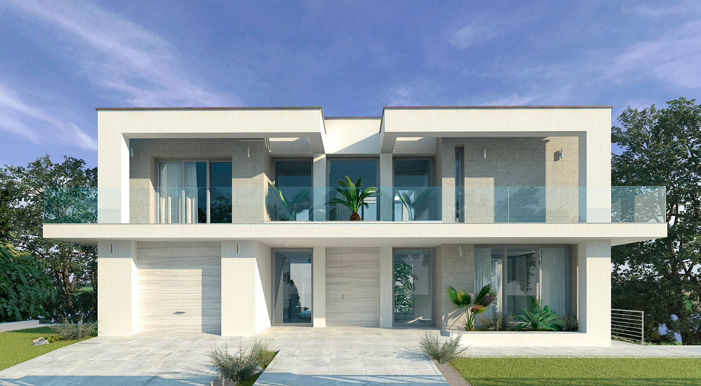 Villa moderna con piscina for Progetto villa moderna