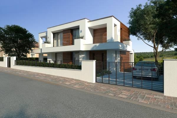 Villa moderna di design con piscina e taverna for Piante di ville moderne