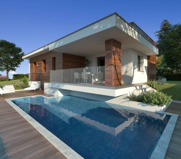 Villetta unifamiliare moderna for Progetto casa moderna nuova costruzione