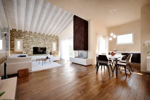 Villa con appartamento in mansarda piscina e taverna for Appartamento garage prefabbricato a 2 piani