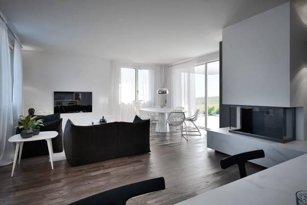 Villetta unifamiliare moderna for Progettazione del piano casa