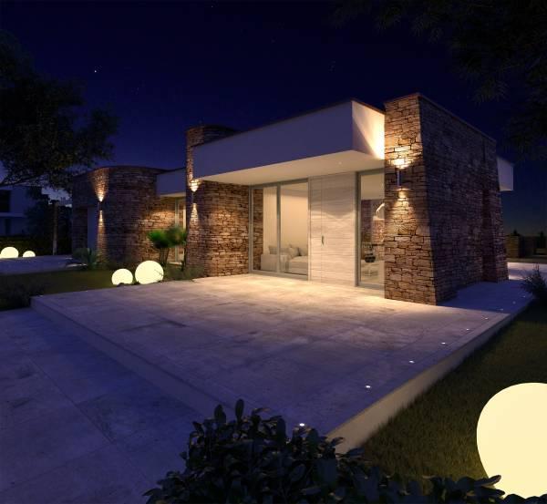 Villa in pietra su due piani for Casa moderna un piano