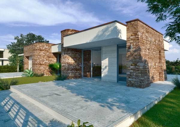 Villa in pietra su due piani for Camera da letto principale oltre i piani di aggiunta del garage