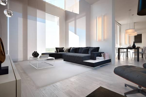 Villa moderna di design con piscina e taverna for Design seminterrato non finito