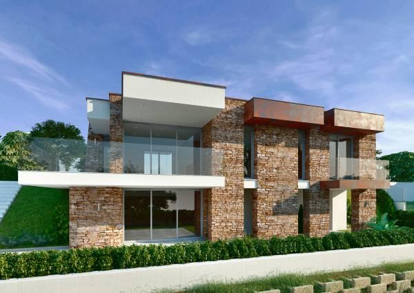 Villa in pietra su due piani for Piani a due piani in florida