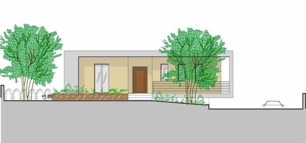 Villetta a un piano seminterrato for Casa moderna su un piano