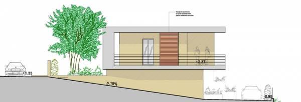 Villetta a un piano seminterrato for Ingresso ville moderne